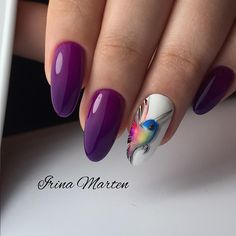 29 Most Popular ideas for bright summer nails designs purple Love Nails, Pretty Nails, My Nails, Bright Summer Nails, Spring Nails, Animal Nail Art, Bird Nail Art, Gel Nagel Design, Luxury Nails
