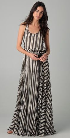 Parker long pleated maxi dress. it also has a racer back, which I love.