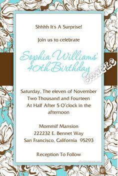 free invitation print Adult
