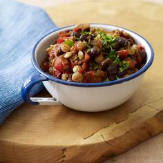 Lentil and Black Bean Chili Recipe   Weight Watchers Canada