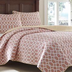 Tommy Bahama Catalina Trellis Mango Reversible 3-piece Cotton Quilt Set - Overstock™ Shopping - Great Deals on Tommy Bahama Quilts