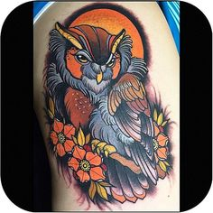 Hey guys! @megan_massacre here with my favorite tattoo of the week pick for #MassacreMonday  I'm in love with this super cute owl tattoo by ✨@AnnieFrenzel✨  Tag #MassacreMonday for a chance to be featured! #tattoodo