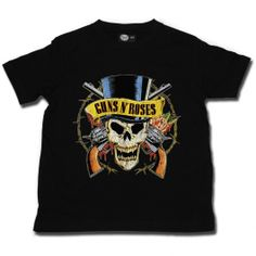 Guns 'n Roses Baby T-shirt. Is your baby cool enough to rock this baby shirt? Check it out: http://www.littlerockstore.nl/baby/guns-n-roses-baby-t-shirt-tophat.html