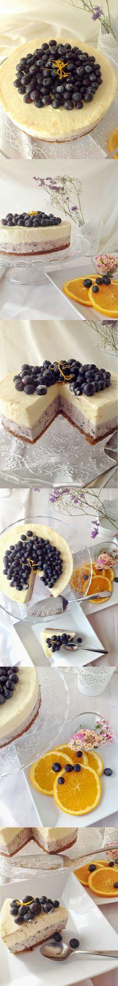 Cheesecake de naranja y arándanos - Pecados de Reposteria