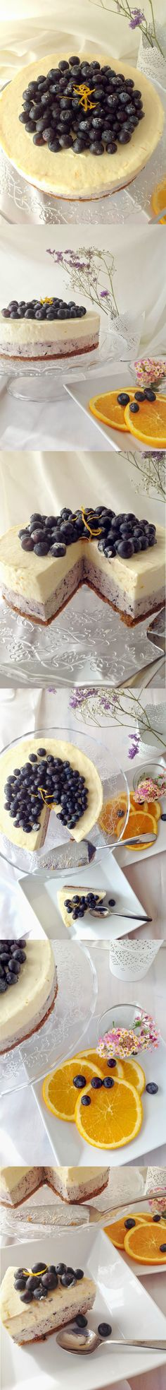 Cheesecake de naranja y arándanos / http://pattyscake-pbb.blogspot.com.es/