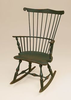 Historical Fan Back Rocking Chair Image