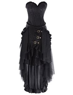 Steampunk Victorian Gothic Womens Costume Show Girl Skirt Prom Party S