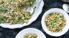 The perfect comfort food, this delicious, easy-to-make dish balances healthy protein from eggs and cashews, healthy fats, and lots of vitamin-rich veggie fiber. This recipe offers a great way to mix in those healthy veggies and create a tasty, warming meal for the cooler months. Recipe courtesy of Kirsten McCormick, Nutritionist, Chef, and Founder of Running with Forks.
