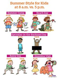 Your Kids' Summer Style at 8 a.m. vs. 5 p.m. | More LOLs & Funny Stuff for Moms | NickMom