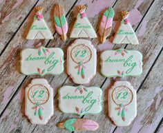 Dream Big with this bohemian cookie collection by Kelley Hart Custom Cookies