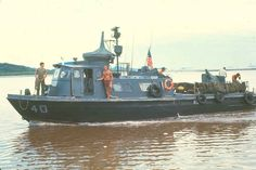 US Navy Vietnam | Swift Boat Patroling the Song Cua Long near Seafloat.  #VietnamWarMemories
