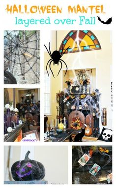 Decorating a Halloween mantel with dollar tree decor and more