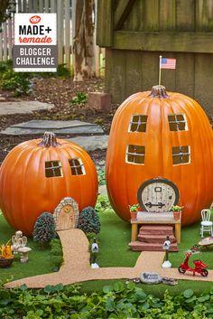DIY Network Pumpkin Challenge: A Fairy Pumpkin Village >> http://www.diynetwork.com/made-and-remade/make-it/pumpkin-challenge-fairy-garden-pumpkin-village?soc=pinterest @michaelsstores #MadeWithMichaels