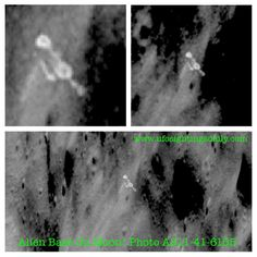 Alien Base Discovered In NASA Moon Photo, July 2013. Mission: Apollo 11, 1969 Date of discovery: July 2013 Location of discovery: Moon --- Photo at: http://archive.org/details/AS11-41-6155 --- #aliens #ufos #bases #moon #evidences #apollo11