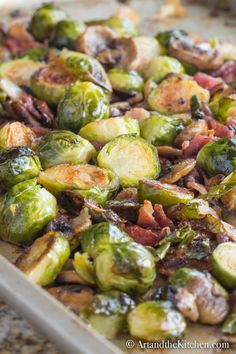 Delicious tasting Best Ever Brussel Sprouts are oven roasted to perfection with bacon and mushrooms. Delicious tasting Best Ever Brussel Sprouts are oven roasted to perfection with bacon and mushrooms. Brussel Sprouts And Mushroom Recipe, Best Brussel Sprout Recipe, Baked Brussel Sprouts, Cooking Brussel Sprouts, Roasted Sprouts, Brussels Sprouts, Sprouts Food, Oven Roasted Vegetables, Brussel Sprout Casserole