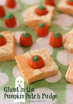 Ghost in the Pumpkin Ghost in the Pumpkin Patch Fudge. Marbled...  Ghost in the Pumpkin Ghost in the Pumpkin Patch Fudge. Marbled orange and white fudge creates the perfect Ghost in the Pumpkin Patch effect for a tasty Halloween treat! Recipe : http://ift.tt/1hGiZgA And @ItsNutella  http://ift.tt/2v8iUYW