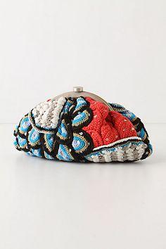 patchwork crochet clutch