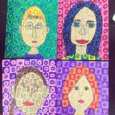 5th grade Chuck Close self portraits.