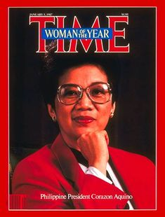 """Corazon Aquino was the first woman president of the Philippines and a Nobel Peace Prize nominee. She served as the president of the Philippines from 1986 to 1992 after her bloodless """"People Power"""" revolution led to the ouster of former ruler. People Power Revolution, President Of The Philippines, Filipino Culture, Filipino Art, Time Magazine, Magazine Covers, Power To The People, Women Names, Corazon Aquino"""