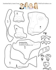 Printable Dachshund Outline Template from PrintableTreats