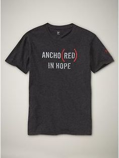 Gap World Aids Day tshirt. $24.95. 50% of profits donated to the Global Fund to fight AIDS in Africa.