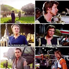The parallels in the Star Wars movies give me life