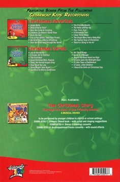 Kids Christmas Collection Back Cover Songbook