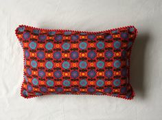 Scandi Style Boudoir throw pillow Retro 1960s Red