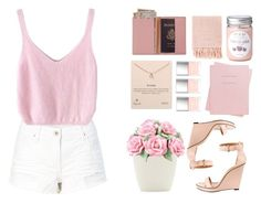 """pink"" by ardnaxela2512 ❤ liked on Polyvore featuring Royce Leather, Surya, Dogeared, Butter London, Shinola, Dot & Bo and Givenchy"