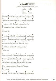 alouette easy ukulele song