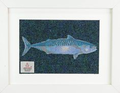 Embroidered Mackerel on Harris Tweed - £40 plus postage and packing. Other tweeds are available.
