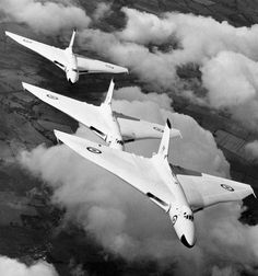 Iconic official MOD picture of the Avro Vulcan nuclear bomber force