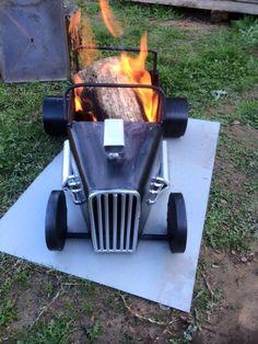 www.bbqlikeaboss.com  BBQ car fire pit
