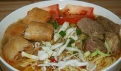 Recipes How To Make Soto Mie Bogor Delicious and Easy Soup Recipes, Snack Recipes, Healthy Recipes, Healthy Food, Indonesian Cuisine, Bogor, Homemade Soup, Noodle Soup, Asian Recipes