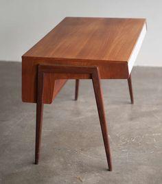 1950u0027s Dutch Mid Century Modern Teak Desk