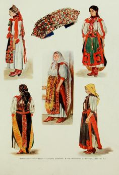Hungarian folk costumes - Kalotaszeg - A magyar nép művészete Historical Women, Historical Clothing, Folklore, Hungarian Women, Capital Of Hungary, Braided Line, Hungarian Embroidery, Principles Of Art, Folk Dance
