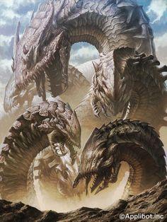Dragon de arena envolved