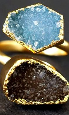 Beautiful Geode ring from  Christina Rose Jewelry