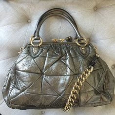 🎀HP🎀Marc Jacobs Patchwork Stam In Pewter Good Condition. Some wear in handles and on bottom corners hardly noticeable. Pictures as requested. Sold as is Marc Jacobs Bags
