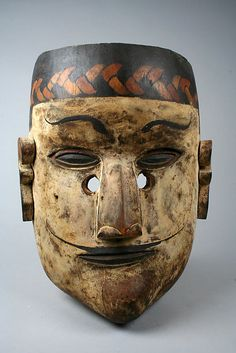 Mask Date: late century Geography: Indonesia, Sumatra Culture: Karo Batak people Medium: Wood, paint Dimensions: Height in. Arte Tribal, Tribal Art, African Masks, African Art, Totems, Art Sculpture, Sculptures, Mask Images, Indonesian Art