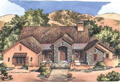 Eplans Southwest House Plan - Hacienda with Utmost Livability - 3061 Square Feet and 3 Bedrooms from Eplans - House Plan Code HWEPL09769