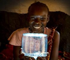 Luci is an inflatable lamp that works on solar energy, created with the goal of making an affordable clean energy product that people could use in any situation.'