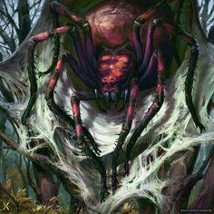 Giant Spider, Markus Neidel on ArtStation at http://www.artstation.com/artwork/giant-spider