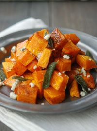 FreshTartSteph Recipe: Roasted Butternut Squash with Blue Cheese & Sage - Twin Cities Taste - October 2011 - Minnesota
