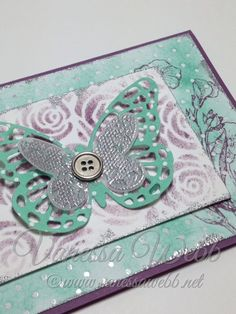 STAMPIN' UP! SALE-A-BRATION and OCCASIONS CATALOGUE SNEAK PEEK - Butterfly Basics card using Irresistibly Yours Designer Paper - SEE the new catalogues online www.vanessawebb.stampinup.net January 6 2015