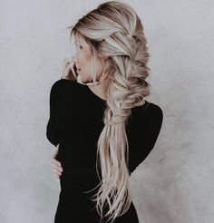 """3,794 Likes, 22 Comments - Chrissy Rasmussen (@hairby_chrissy) on Instagram: """"Braids on the side with @habit.hand.tied.extensions 