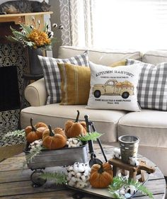 fall home decor homedecor home decor plaid fall pillows. rustic fall home decor for your farmhouse. Check out these best fall home decor pins and save them for later. Autumn is the best time of year and decorating for it is even more fun!
