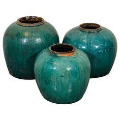 Antique Chinese Ceramic Ginger Jars | From a unique collection of antique and modern ceramics at https://www.1stdibs.com/furniture/asian-art-furniture/ceramics/