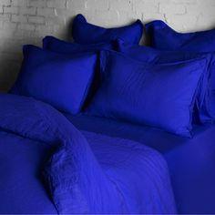 Conran Shop Linen Duvet Workwear Blue