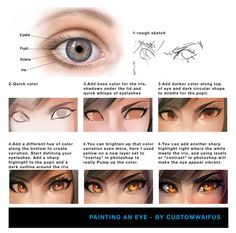 drawingden:  Painting an Eye - Tutorial (Free To Use) by customwaifus